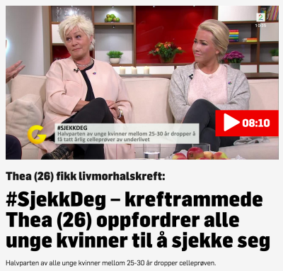 TV 2 // GOD MORGEN NORGE, SEPTEMBER 2015