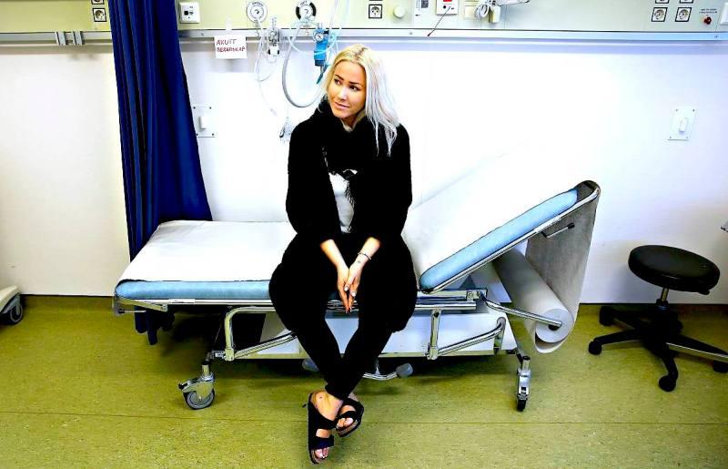 Thea Steen (25) har fått livmorhalskreft. Her på Haukeland Univeritetssykehus. FOTO: HALLGEIR VÅGENES, VG